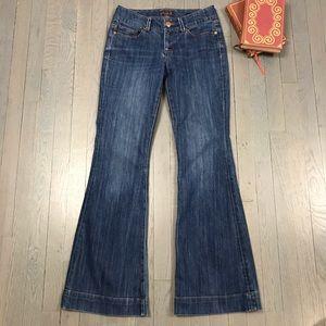 Seven 7 Sexy Flare Bell Bottom Denim Jeans 28